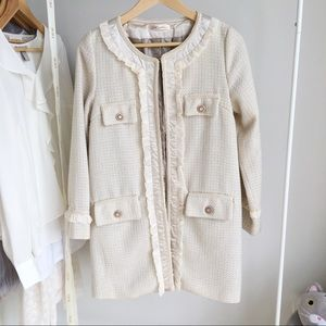 Tweed Chanel Style Cream Jacket